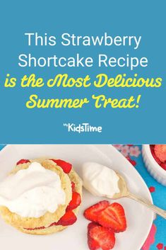 Strawberry Shortcake is the Most Delicious Summer Treat! Homemade Swiss Roll Recipe, Easy Desserts, Dessert Recipes, Shortcake Biscuits, Strawberry Shortcake Recipes, Summer Treats, Rolls Recipe, Family Meals, Summer Fun