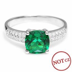 Square Cut Amazing Nano Russian Emerald Engagement Ring Only $29.99 => Save up to 60% and Free Shipping => Order Now! #Bracelets #Mystic Topaz #Earrings #Clip Earrings #Emerald #Necklaces #Rings #Stud Earrings