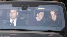 dailymail: Queen Elizabeth's Pre-Christmas Luncheon, Buckingham Palace, December 20, 2017-The Duike and Duchess of Cambridge with the children's nanny Maria Borrallo