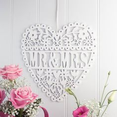 Mr & Mrs heart sign by Gisela Graham via The Contemporary Home