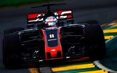 壁紙をダウンロードする 式1, ハースVF-17, Cgi Grosjean, レーシングカー, F1, スイスのレーシングドライバー, ハース
