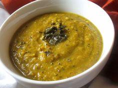 Pumpkin and Carrot Split Lentil Soup