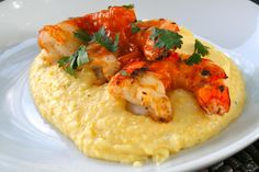 Barbecue Shrimp with Cheese Grits