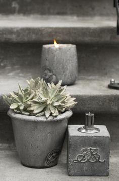 OTINE flower pot and PETRA oil lamp. Lene Bjerre, spring 2014.