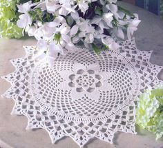crochet doily - in Russian but includes chart