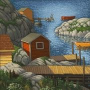 The Bay Acrylic Artwork, Newfoundland, Rug Hooking, Coastal, Artists, Quilts, Drawings, Painting, Paintings