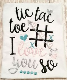 Tic Tac Toe I love you so shirt-Valentine shirt by AddiesThings