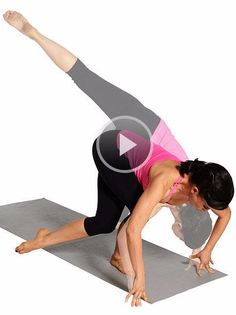 These yoga poses will totally transform your lower body. Great Butt Workouts, Best Cardio Workout, Pilates Workout Videos, Yoga Poses For Beginners, Yoga Tips, Yoga Videos, Hot Yoga, Excercise, Yoga Fitness
