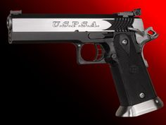 STI USPSA (Double Stack) 1911 .45 ACP Unique Slide - Tri-Top, Stainless with STI Sabertooth Cocking Serrations Grip - Black Glass Filled Nyylon Polymer with Stainless mag well.