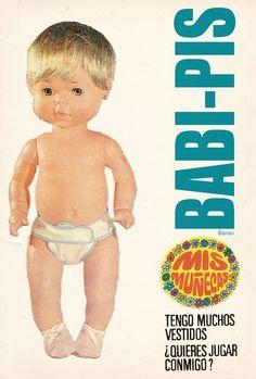 Editorial Bruguera. Mis muñecas recortables tercera edición. Baby-Pis