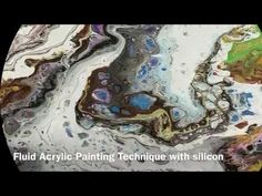Fluid Acrylic Pouring Painting Black Gold & Bronze - YouTube