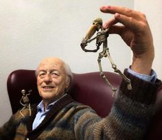 Hyper-realistic life-size sculpture of special effects pioneer, Ray Harryhausen Classic Monster Movies, Classic Monsters, Mike Hill, Dangerous Minds, Scene Photo, Film Director, Special Effects, Stop Motion, Filmmaking