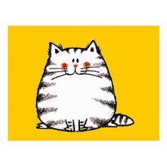 Flockige Katze Postkarte
