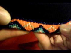 Beading a Baseball Cap Beading Tools, Beading Tutorials, Loom Beading, Beading Projects, Native Beadwork, Native American Beadwork, Beaded Earrings Patterns, Beading Patterns, Baseball Cap Hairstyles