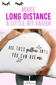 Oh, Susannah Hug This Pillow Until You Can Hug Me - LDR Pillow Case Standard/Queen Size Pillowcase Long Distance Relationship Gifts Girlfriend Gifts Missing You Boyfriend, Boyfriend Gifts, Ldr Gifts, Funny Wedding Gifts, Long Distance Relationship Gifts, Sweet Messages, Perfection Quotes, Birthday Messages, Hug Me