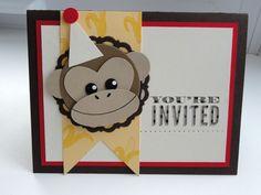 Inch of Creativity: Monkey Birthday Invitations