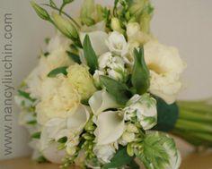 Wedding, Flowers, Green, White, Nancy liu chin