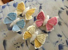 Mariposas fieltro bordadas