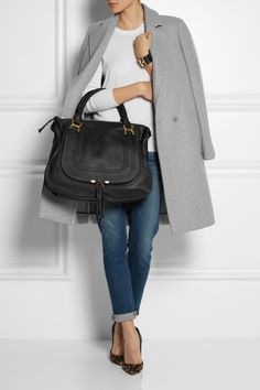 Chloé | The Marcie large textured-leather tote | NET-A-PORTER.COM