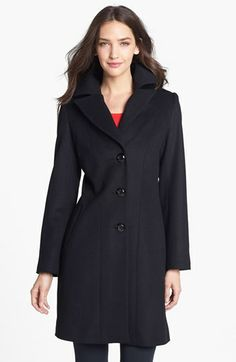 Kristen Blake Single Breasted Lambswool Blend Coat (Regular & Petite) (Nordstrom Exclusive) | Nordstrom