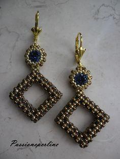 Orecchini Elizabeth realizzati con il #craw. TUTORIAL: https://www.youtube.com/watch?v=pjWfLT9qHM0 #earrings #cubicraw #chaton