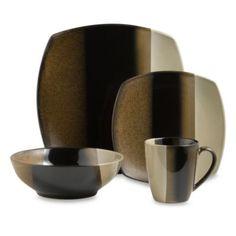 Sango Deco Black 16-Piece Dinnerware Set - BedBathandBeyond.com