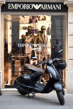 "EMPORIO ARMANI, Rome, Italy presents: ""EA VESPA 946 & The Capsule Collection"", pinned by Ton van der Veer"