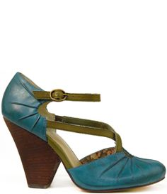 Dolley teal heels, by Seychelles $100