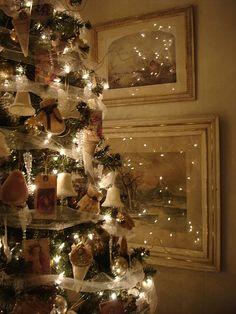 Magical white Christmas tree