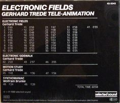 Gerhard Trede Tele-Animation - Electronic Fields (CD) at Discogs