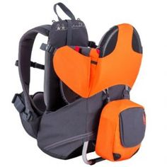 phil&teds Parade Lightweight Backpack Carrier, Orange/Grey - Maternity And Baby Care Baby Backpack, Sling Backpack, Toddler Backpack, Phil And Teds, Best Baby Carrier, Lightweight Backpack, Gear S, Waterproof Fabric, Ring Sling