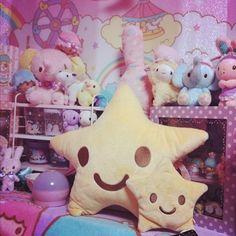 star pillows #cute #kawaii