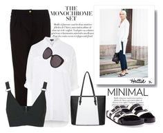 """Monochrome - The Look For Less"" by hattie4palmerstone ❤ liked on Polyvore featuring mode, ONLY, Topshop, Givenchy, Christian Dior, topshop, Balenciaga, newlook en Lucuc"