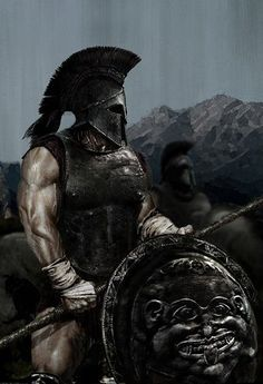 The Ancient Spartan Military - Weapons, Warriors and Warfare. The Military of Sparta and their wars. Spartan battles, wars and armor. Hoplite warfare and the battle of thermopylae. Spartan Military, Spartan Warrior, Viking Warrior, Fantasy Warrior, Greek Warrior, Fantasy Kunst, Fantasy Art, Warrior Spirit, Art History