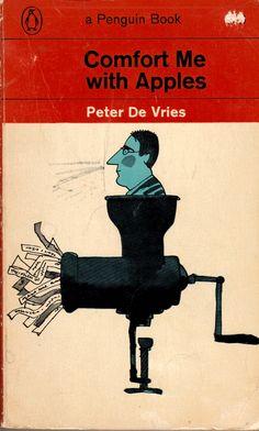 Peter De Vries - Comfort Me with Apples, 1965 Artwork by Milton Glaser Book Cover Art, Book Cover Design, Book Design, Book Art, Vintage Book Covers, Vintage Books, Penguin Publishing, Vintage Penguin, Milton Glaser