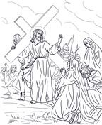 Jesus Stations of the Cross Coloring pages. Select from 31983 printable Coloring pages of cartoons, animals, nature, Bible and many more. Cross Coloring Page, Free Coloring Pages, Printable Coloring Pages, Page Eight, Christianity, Christmas Crafts, Bible, Cartoon, Animals
