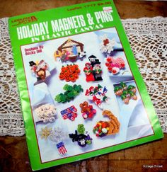 Holiday Magnets and Pins In Plastic Canvas Becky by VintageTinsel