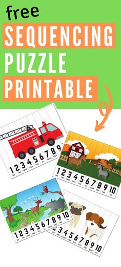 Educational Activities For Toddlers, Puzzles For Toddlers, Sequencing Activities, Book Activities, Toddler Puzzles, Printable Puzzles For Kids, Preschool Printables, Collor, Toddler Books