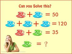 If Red Blue Cup=50! Then Find the Value of Green Cup? Genius Math PUZZLES!