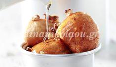 Λουκουμάδες με μέλι Beignets, Pear, Recipies, Fruit, Food, Recipes, Fritters, The Fruit, Rezepte