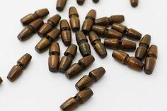 10 Dark Brown Sew Through Wooden Toggles by boysenberryaccessory