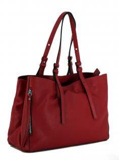 Henkeltasche Twin Ceralacca rot zweigeteilt Gianni Chiarini - Bags & more Twins, Tote Bag, Bags, Fashion, Taschen, Red, Handbags, Moda, Fashion Styles