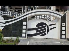 Creative Gate Designs Ideas ( Part 8 )kancelo del futuro Gate Wall Design, Home Gate Design, House Fence Design, Front Wall Design, Iron Gate Design, House Main Gates Design, Steel Gate Design, Garage Door Design, Main Door Design
