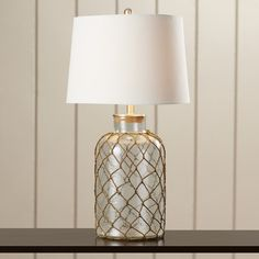 """Found it at Wayfair - Belvidere Nautical Net 30"""""""" H Table Lamp with Empire Shade"""