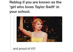 AND PROUD OF IT!!! <3 #swiftie #TaylorSwift