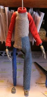 The Hollow Boy Production Blog: Puppet Fabrication (Built Up Method) and Clothing for Stop-Motion Puppets - Part 3
