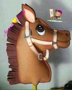 Foam Crafts, Diy And Crafts, Sheriff Callie Birthday, Stick Horses, Horse Party, Stuffed Animal Patterns, New Hobbies, Toy Store, Diy For Kids