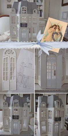 window detail Dollhouse Tutorials, Diy Dollhouse, Dollhouse Miniatures, Miniature Tutorials, Miniature Furniture, Doll Furniture, Window Detail, Miniture Things, Clever Diy