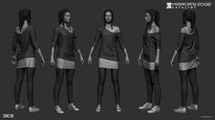 ArtStation - Mirror's Edge Catalyst - Misc Character Work, Sanna Nivhede