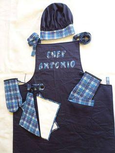 Avental brim de algodão, forrado ,manta R2,todo quiltado, com bolso lateral,personalizado,pegador de espetos com manta,toalha pra mãos,2 luvas com manta,forradas e quiltada,chapéu do chef com regulagem em velcro. Consulte para peças avulsas.